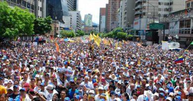 Oposición marcha este 19 de Abril, en lo que es su sexta concentración
