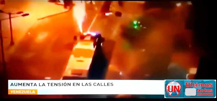 Aumenta tension con incendios en manifestaciones Venezuela saqueos panaderia