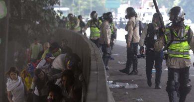 Brutal represión en marcha del 19 de abril en Venezuela