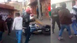 Policía le dispar a mujer embarazada en Iztapalapa