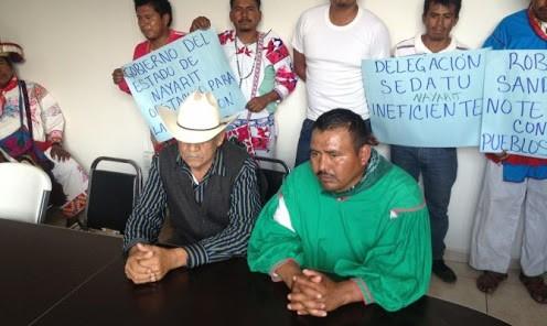 El pueblo huichol, rechazan las acciones cometidas en contra de sus hermanos de lucha y de raza