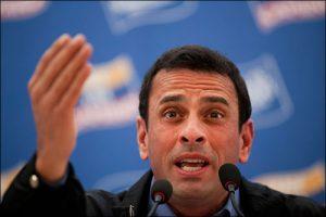 Capriles hace llamado para seguir luchando por Venezuela