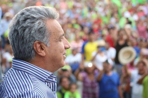 Durante su discurso inicial Moreno retomó las promesas realizadas en campaña