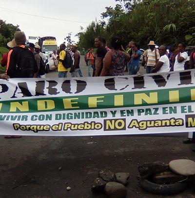 Continua paro cívico en Buenaventura, principal puerto marítimo de Colombia
