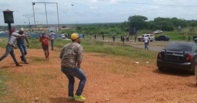 Doce personas detenidas fue el resultado de una manifestación pacifica que se efectuó en la salida hacia Chaguaramas
