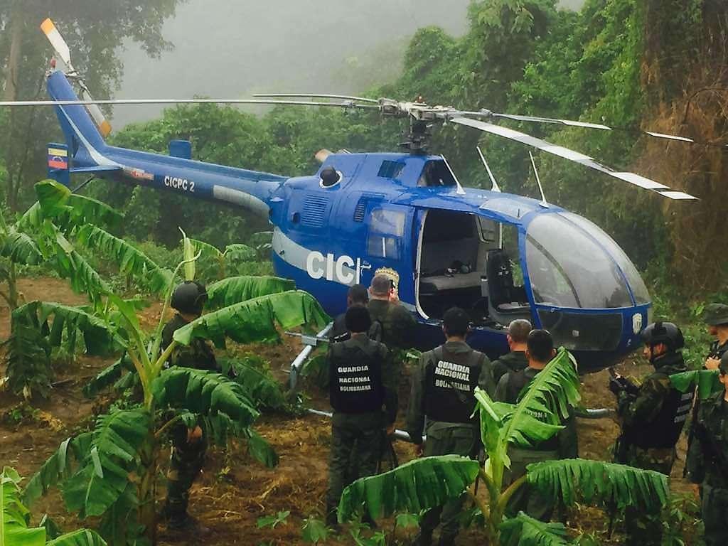 En el estado Vargas, fue localizado el helicóptero del Cicpc, usado para atacar sede del TSJ