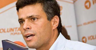 Dictaron arresto domiciliario para Leopoldo López