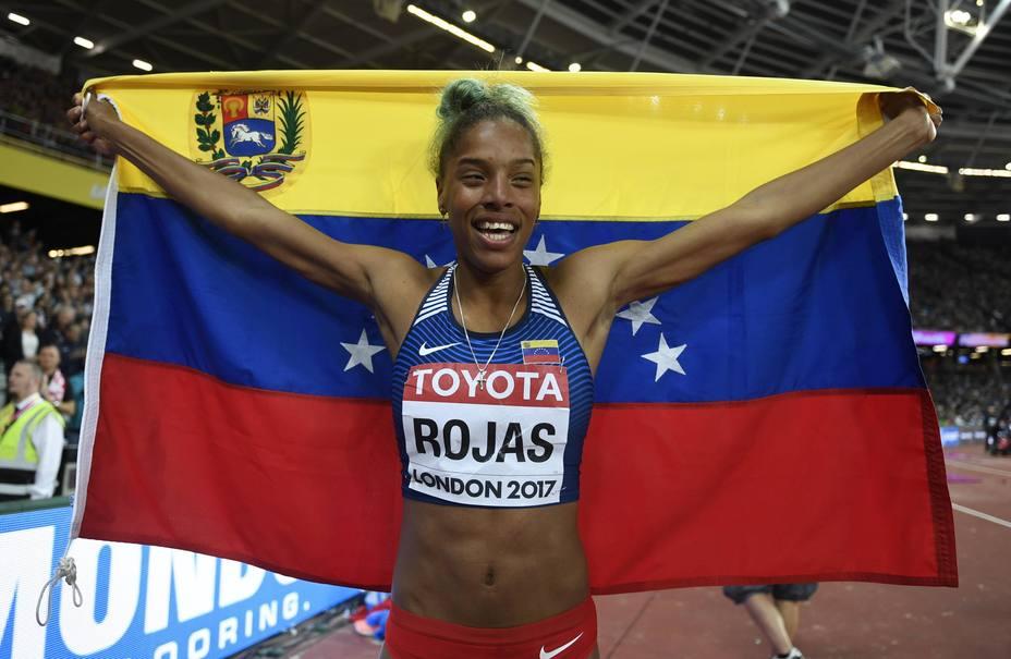 Yulimar Rojas consigue la primera presea de oro para Venezuela