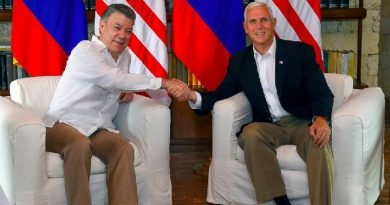 Mike Pence, vicepresidente de EE.UU, llegó a Colombia