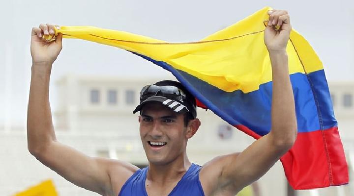 Ganó medalla de oro, el marchista colombiano Éider Arévalo