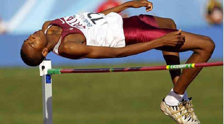 """El """"Chino"""" Yánez sale este viernes a la pista del estadio Olímpico de Londres, en salto alto"""
