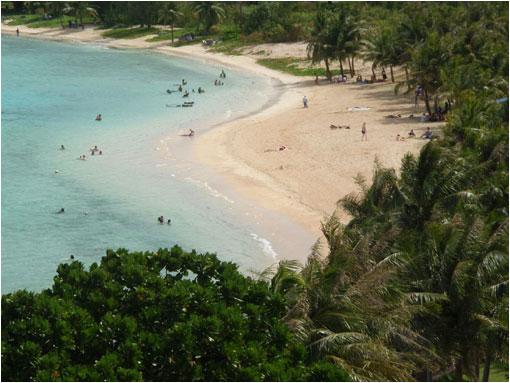 La isla Guam, objeto de la querrella que mantiene Corea del Norte y Estados Unidos