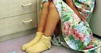Embarazada niña de doce años que fue violada por su hermano
