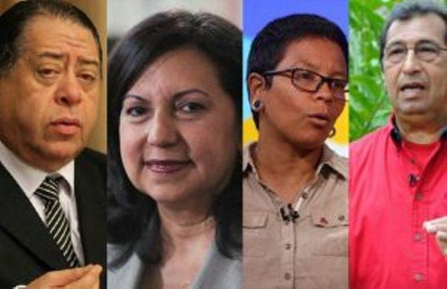 Bladimir Lugo, Tania D Amelio, Ramón Vivas, Adán Chávez, Francisco Ameliach, Erika Farías, Carmen Meléndez y Hermánn Escarrá,