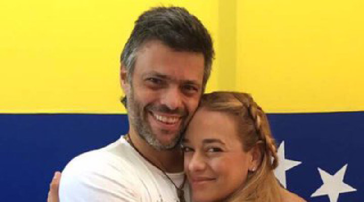 Tres meses de embarazo tiene Lilian Tintori, esposa de Leopoldo López