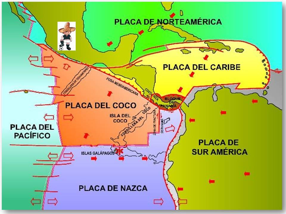 México descansa sobre cinco placas tectónicas