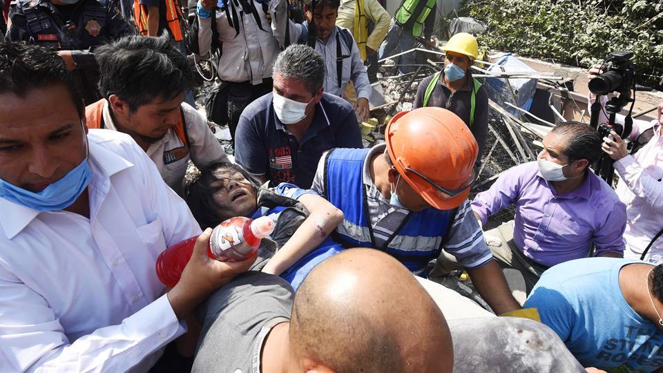 A 286 se incrementó la cifra de muertos por el sismo en México