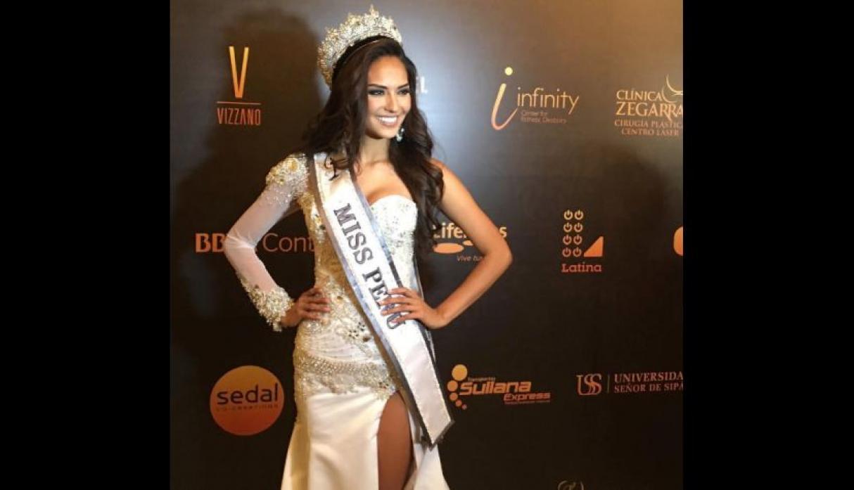 Concurso de Miss Perú inédito, las participantes cifras de feminicidio en vez de sus medidas