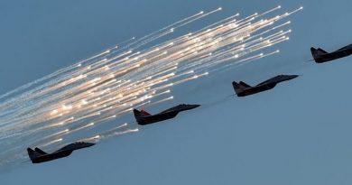 Presuntos aviones rusos bombardearon la localidad siria de Al Shafa