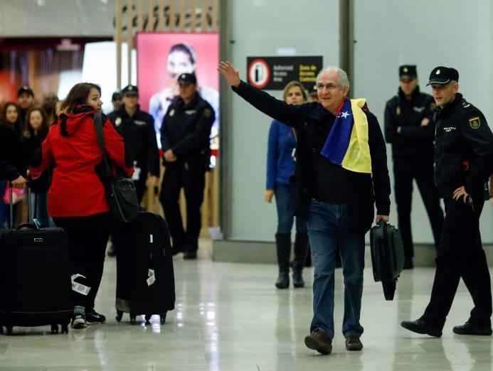 En Madrid se encuentra el opositor venezolano Antonio Ledezma