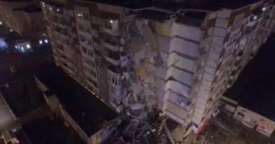 Tras el derrumbe de un edificio en Rusia, fallecieron seis personas