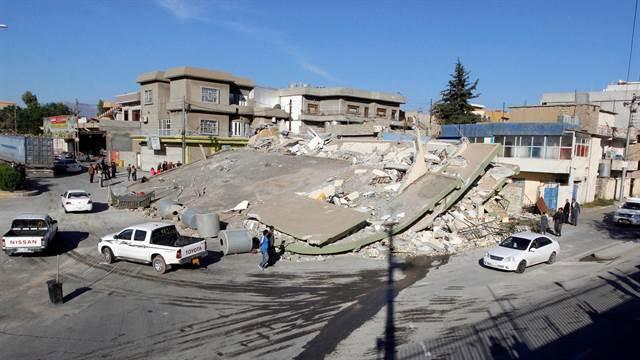 La localidad de Sarpul Zahab, la más afectada por el terremoto en Irán