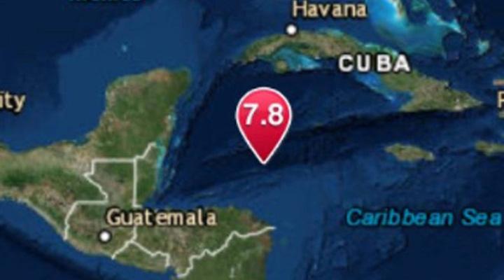 En el mar, al norte de Honduras, se produce terremoto de magnitud 7,6