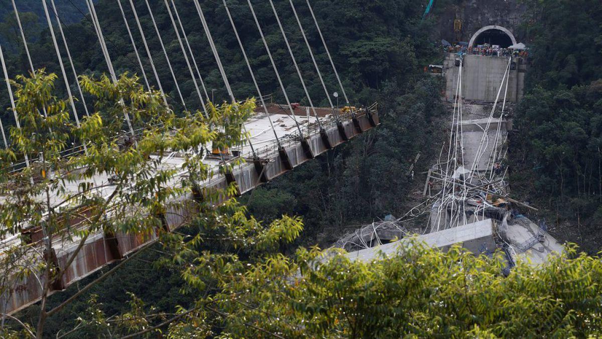 Se desplomó puente recién inaugurado en Colombia