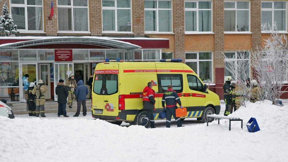 Este es el segundo ataque en una escuela en Rusia, el primero fue la pasada semana, donde ocho menores de edad y una profesora resultaron heridos  por arma blanca en un colegio de la ciudad rusa de Perm (Urales),