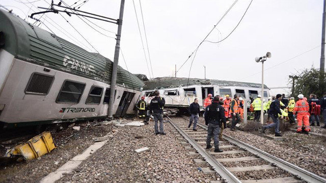 Más de cien heridos dejó descarrilamiento de tren en Milán