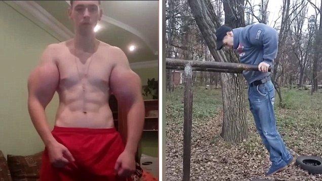 Como el deseo de Kirill Tereshin es sobresalir a como de lugar, se mandó a colocar quirurgicamente implantes de silicona en los bíceps y en las piernas