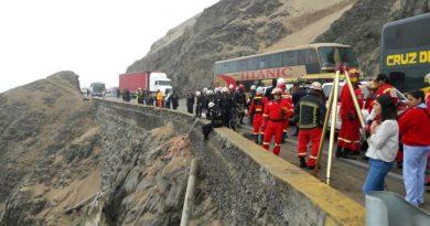 Prohíben la circulación de buses en el Serpentín de Pasamayo