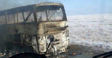 En Kazajistán, incendio de un autobús dejó más de 50 muertos