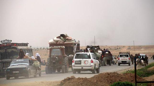 Otra preocupación que asalta a la población civil de Afrín es el temor a salir de sus casas, por temor a ser alcanzados por los ataques aéreos