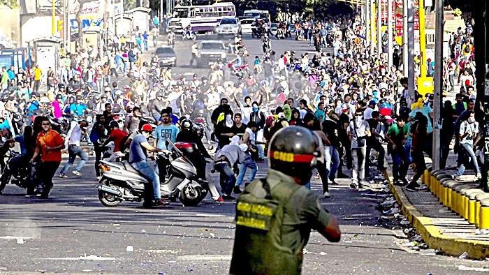 Otra manifestación venezolana llena de sangre