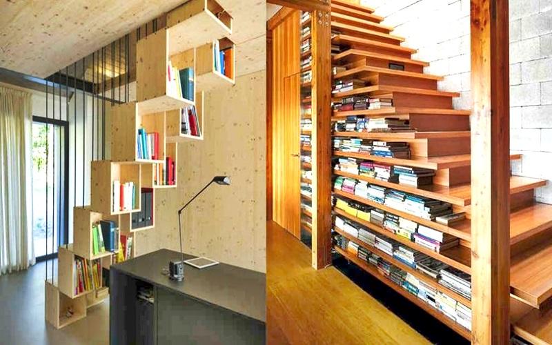 La mejor opción cuando hay escaleras en casa es ocuparlos inteligentemente