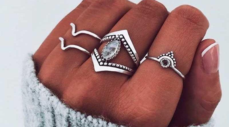 Anillos plata minerales piedras naturales